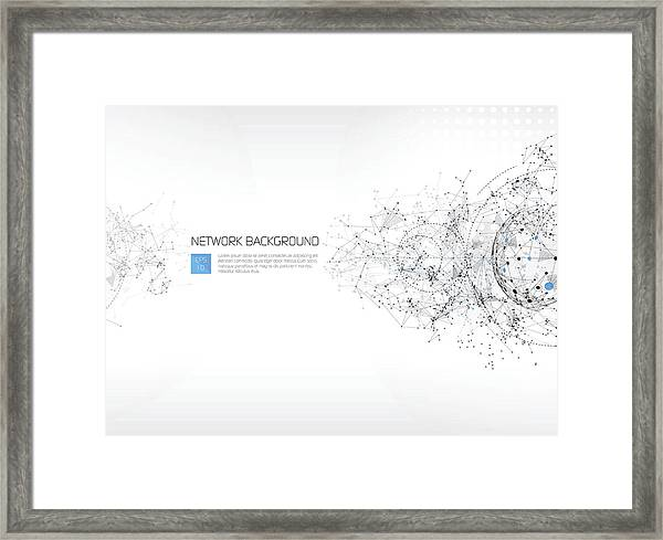 Abstract Network Background Framed Print by AF-studio