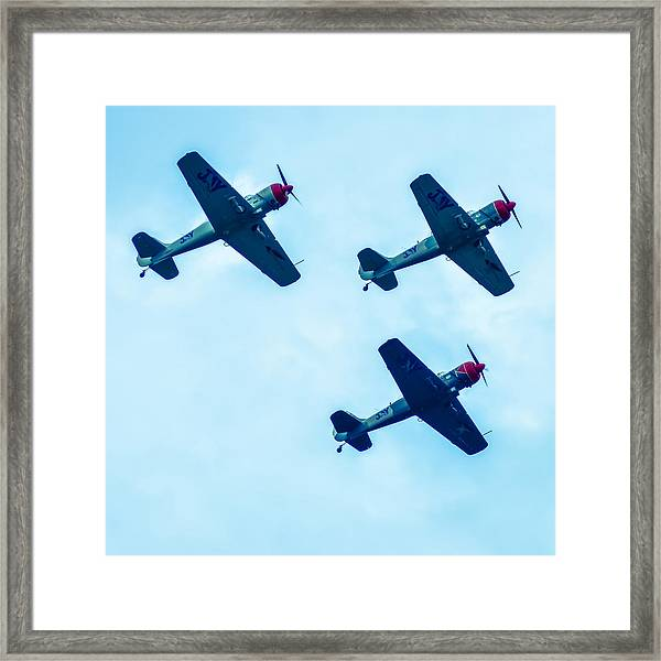 Action In The Sky During An Airshow Framed Print