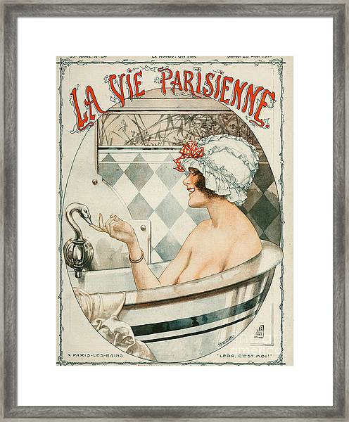 La Vie Parisienne  1919 1910s France Framed Print