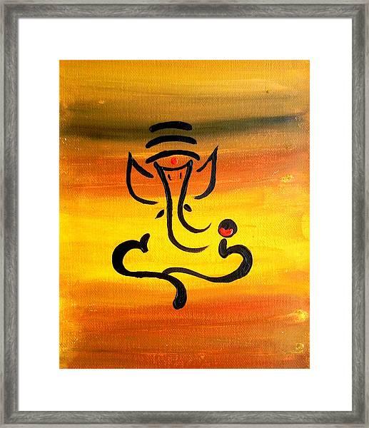 11 Nandana- Son Of Lord Shiva Framed Print