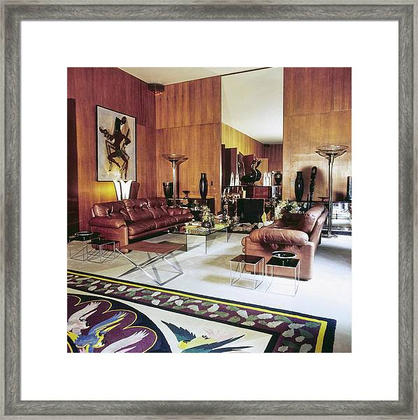 Yves Saint Laurent's Living Room Framed Print by Horst P. Horst