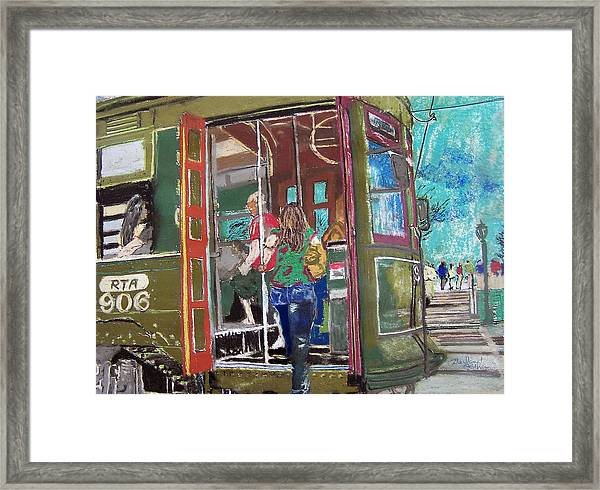 111708 New Orleans Street Car  Framed Print