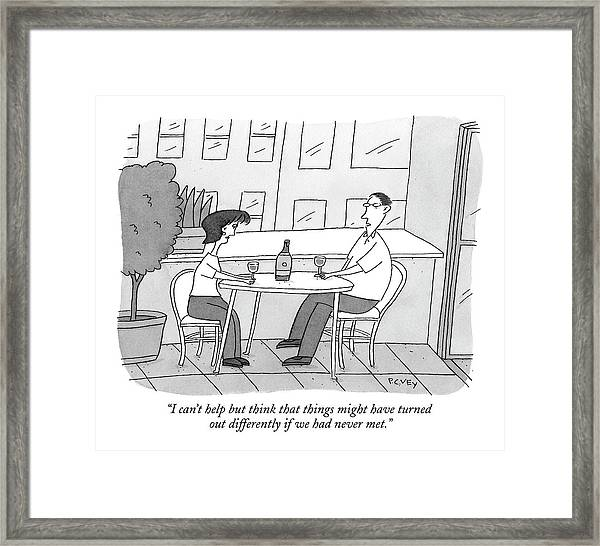 I Can't Help But Think That Things Framed Print