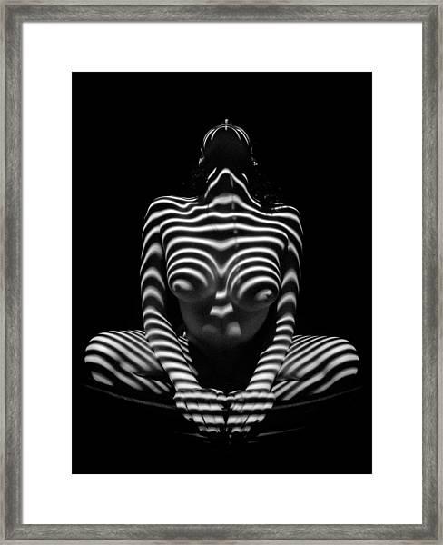 1152 Zebra Woman Stripe Series Framed Print