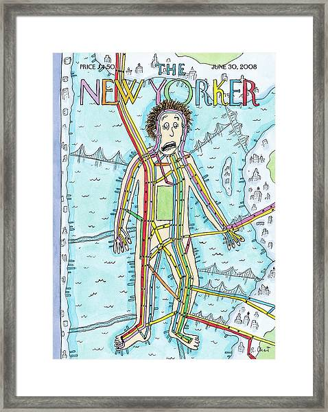 New Yorker June 30th, 2008 Framed Print