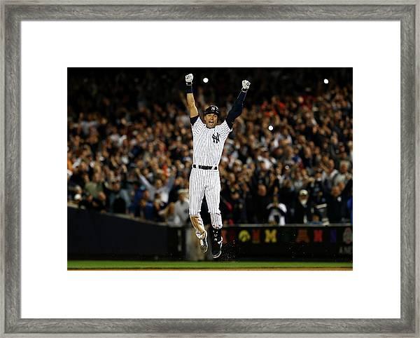 Baltimore Orioles V New York Yankees Framed Print