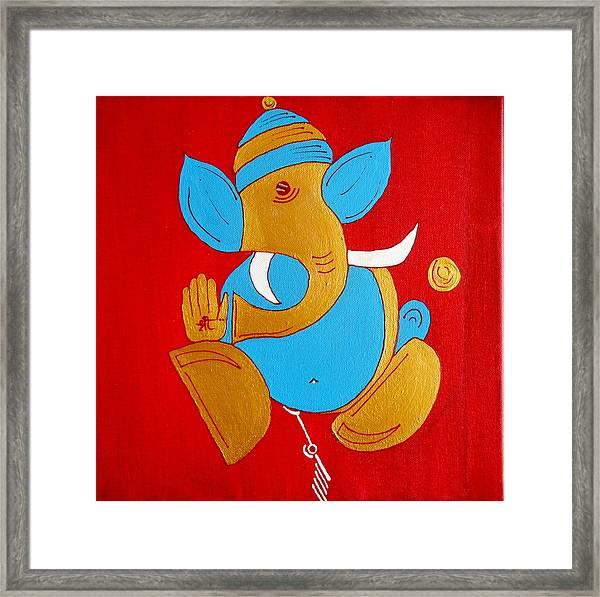 12 Shubham - Auspicious Ganesha Framed Print