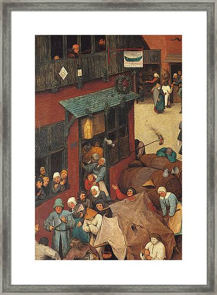 The Fight Between Carnival And Lent Framed Print