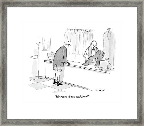 How Soon Do You Need These? Framed Print