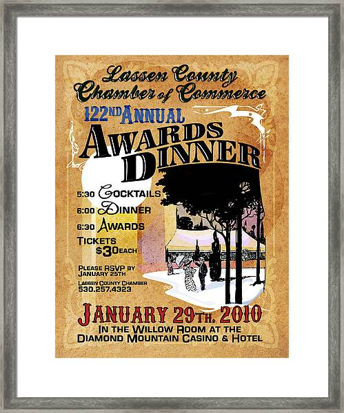 122nd Annual Awards Dinner Framed Print by The Couso Collection
