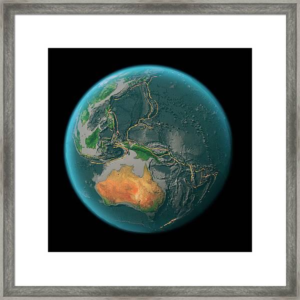 Global Tectonics Framed Print by Karsten Schneider/science Photo Library