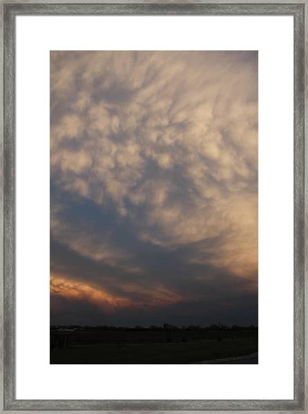 Framed Print featuring the photograph Nebraska Mammatus Sunset by NebraskaSC