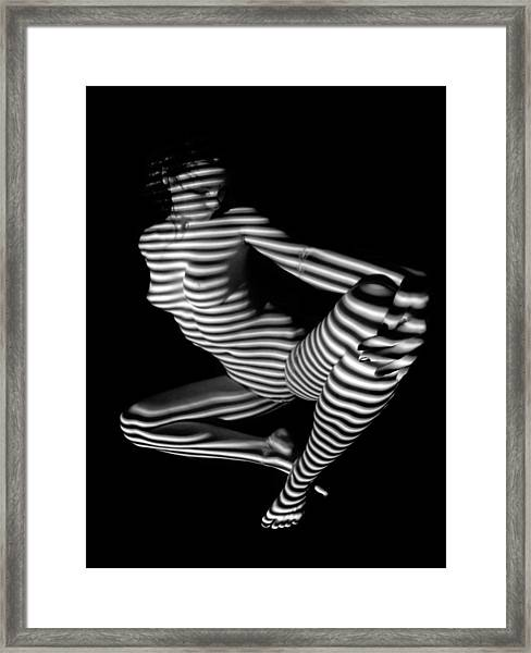 1386 Zebra Woman Stripe Series Framed Print