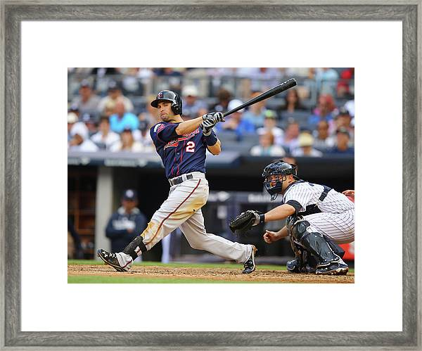 Minnesota Twins V New York Yankees Framed Print by Al Bello