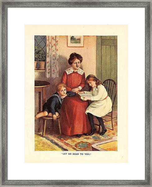 Uk Illustrations Book Plate Framed Print