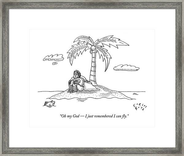 Oh My God -- I Just Remembered I Can Fly Framed Print