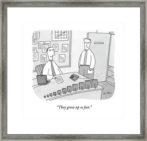 They Grow Up So Fast Framed Print