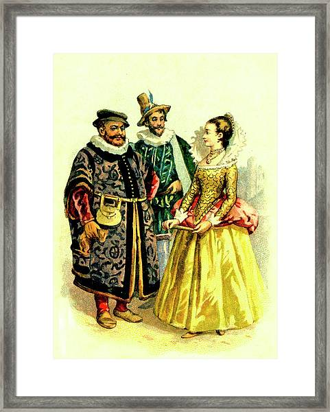 15th C English Clothing Framed Print