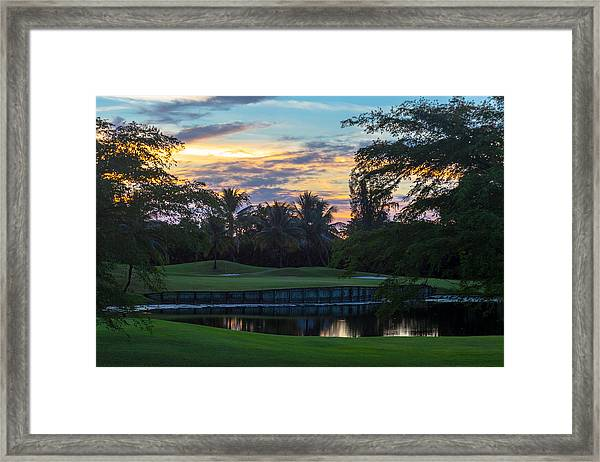 15th Green At Hollybrook Framed Print