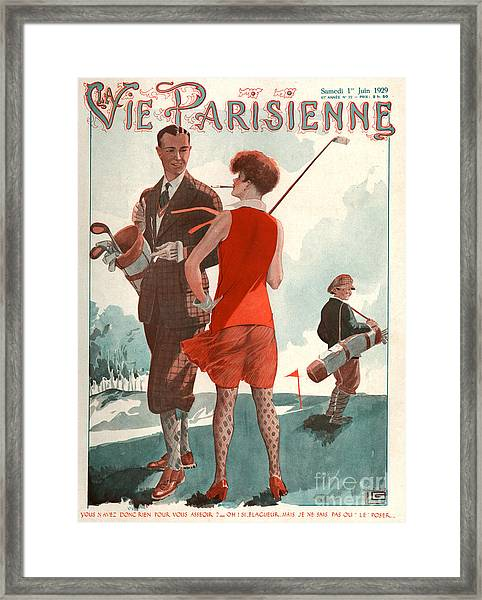 1920s France La Vie Parisienne Magazine Framed Print
