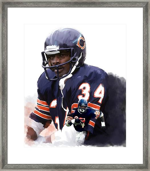 Sweet Chicago Walter Payton Framed Print