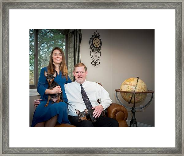 Dawn And Greg - Tie Fixed Framed Print