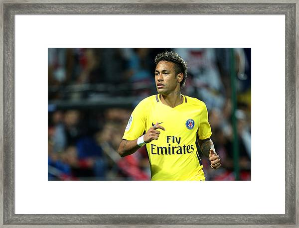 Ea Guingamp V Paris Saint Germain - Ligue 1 Framed Print by Jean Catuffe