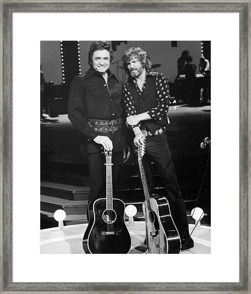 Johnny Cash Framed Print