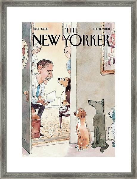 New Yorker December 8th, 2008 Framed Print
