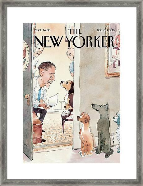 New Yorker December 8th, 2008 Framed Print by Barry Blitt