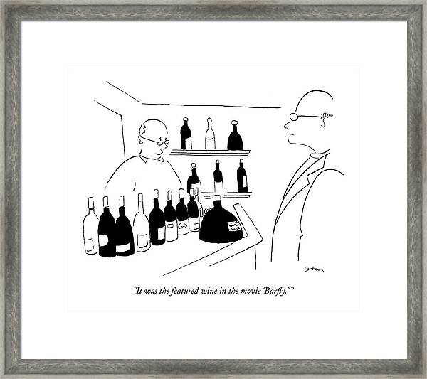 It Was The Featured Wine In The Movie 'barfly.' Framed Print
