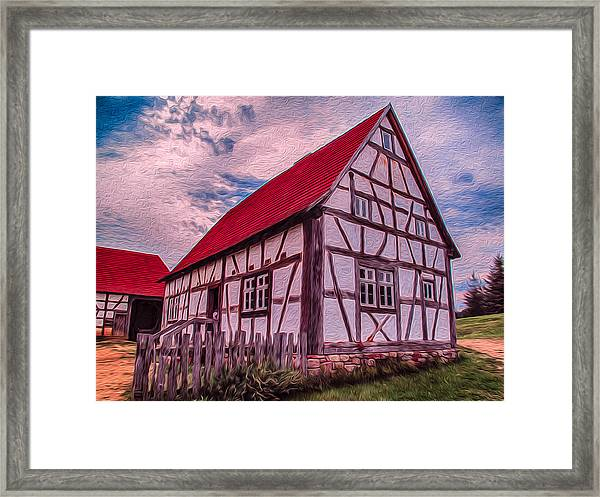 1700s German Farm Framed Print