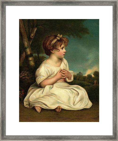 1700s The Age Of Innocence Portrait Framed Print