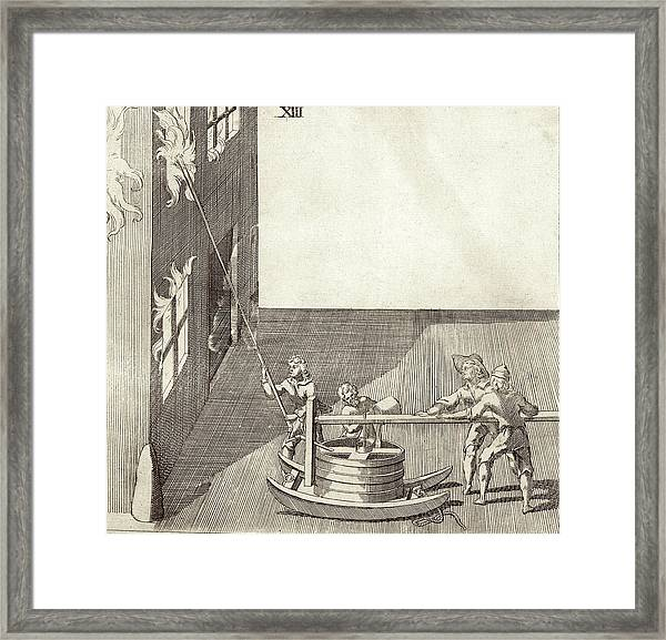 17th Century Fire Engine Framed Print by Stephen A. Schwarzman Building/rare Books Division/new York Public Library
