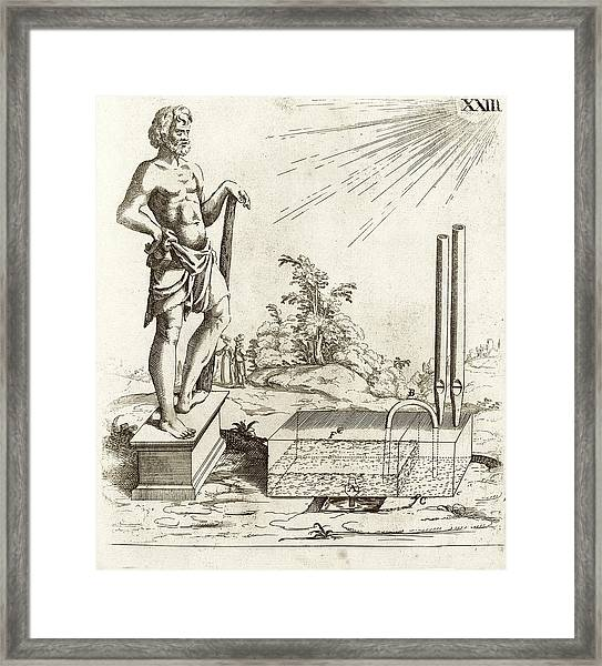 17th Century Solar-powered Sound Machine Framed Print by Stephen A. Schwarzman Building/rare Books Division/new York Public Library