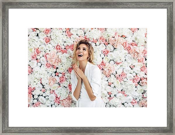 Portrait Of A Nice Looking Woman Framed Print by CoffeeAndMilk