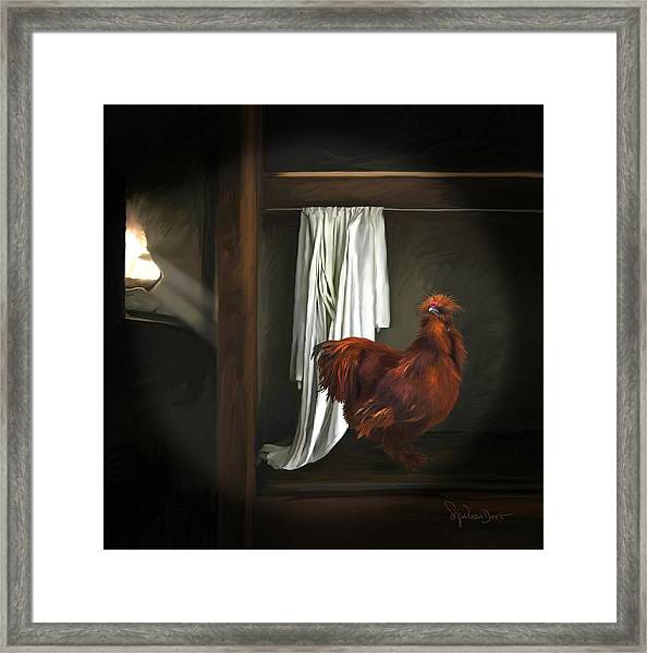 18. Red Rooster Framed Print