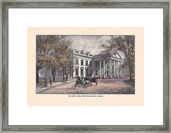 1870's White House Framed Print by Charles Somerville