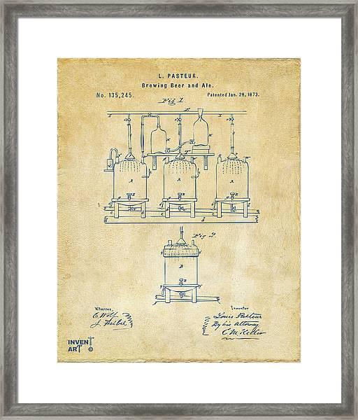 1873 Brewing Beer And Ale Patent Artwork - Vintage Framed Print