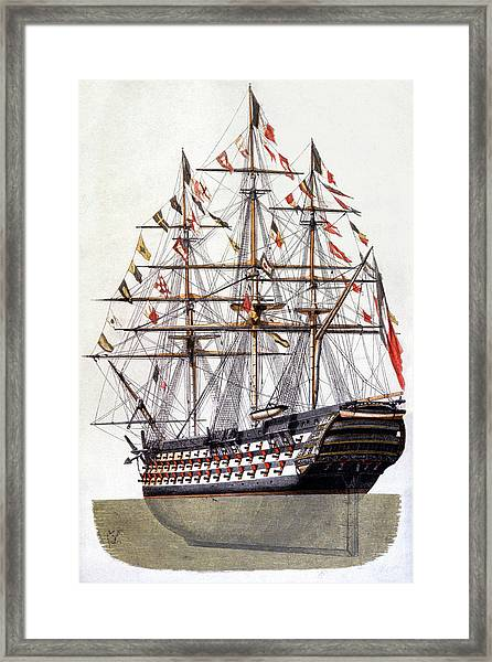 18th Century Warship Framed Print