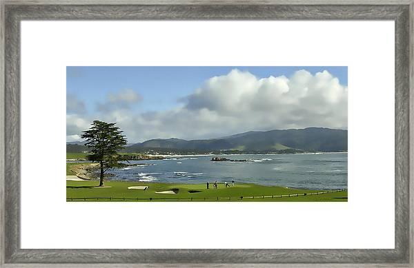 18th Hole Pebble Beach Framed Print