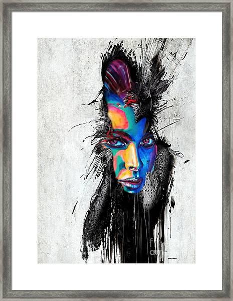 Facial Expressions Framed Print