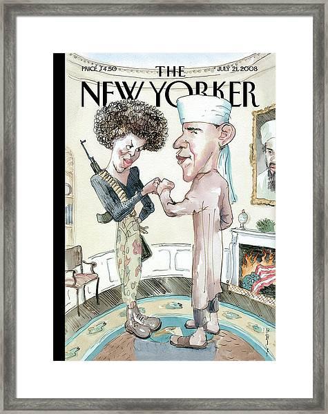 New Yorker July 21st, 2008 Framed Print by Barry Blitt