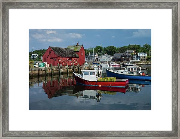 Usa, Massachusetts, Cape Ann, Rockport Framed Print by Walter Bibikow