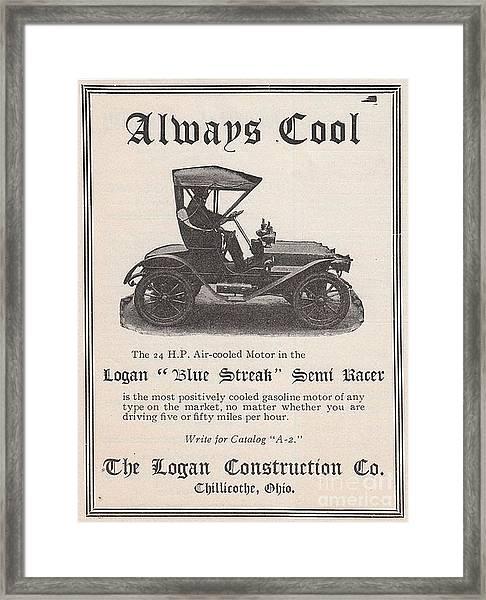 1905 Logan Automobile Poster Framed Print