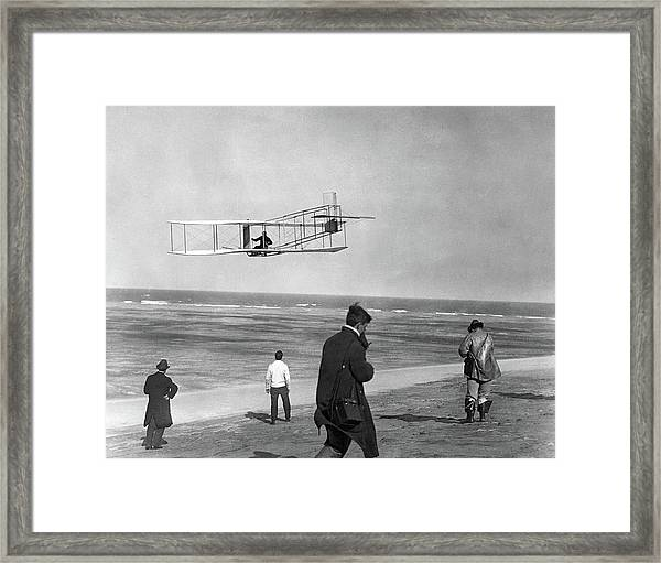 1911 One Of The Wright Brothers Flying Framed Print
