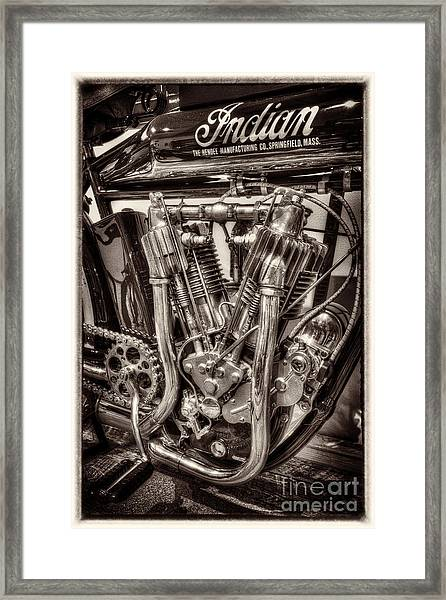 1912 Indian Twin Framed Print