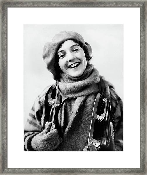 1920s 1930s Smiling Woman Dressed Framed Print