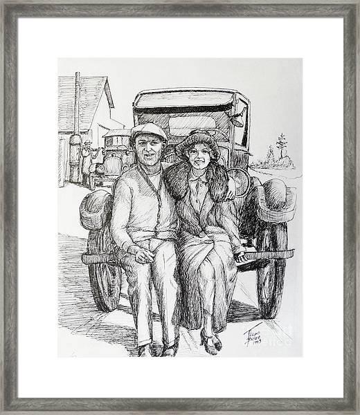 1920s Couple Framed Print