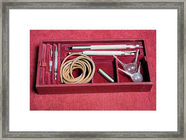 1920s Ophthalmology Instrument Framed Print by Mark Thomas/science Photo Library